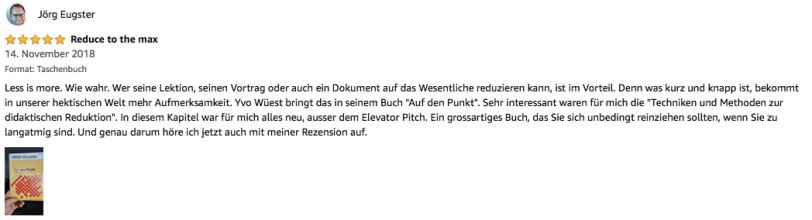 Rezension Jörg Eugster Auf den Punkt 4.11.18