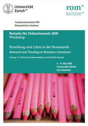 Auftrag Universität Zürich Romanisches Seminar 7.5.2020
